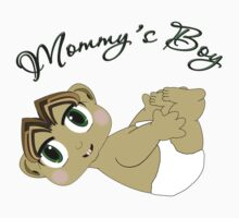 Mommy's Boy Brown Hair and Green Eyes Kids Clothes