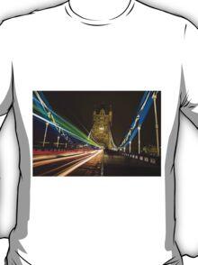 Light Trails on Tower Bridge, London T-Shirt
