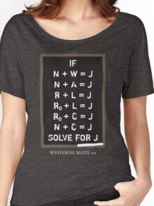 Westerosi Math 101 Women's Relaxed Fit T-Shirt