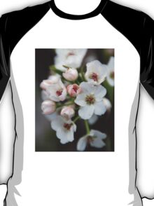 White and Pink Flowers T-Shirt