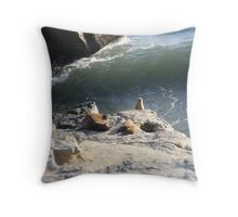 Watch Out For That Wave Throw Pillow