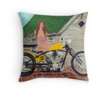 Brass Balls Bobber Throw Pillow