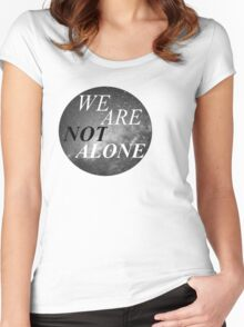 Alone? Women's Fitted Scoop T-Shirt