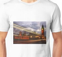 Zoom Zoom Zoom - Bus going past Westminster London at Night Unisex T-Shirt