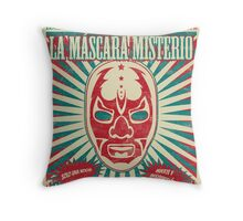 The Mysterious Mask Throw Pillow