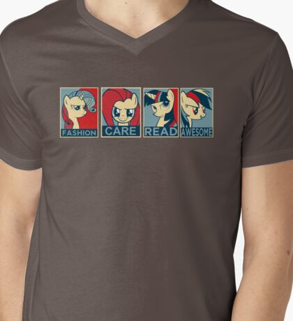 My Little Pony  presidential candidates Mens V-Neck T-Shirt