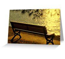 SKIATHOS - Golden shimmering  Greeting Card