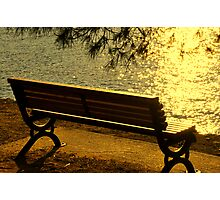 SKIATHOS - Golden shimmering  Photographic Print