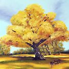 Old Cottonwood ~ Southwest Landscape ~ Oil Painting by Barbara Applegate