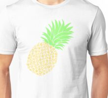 Bright Pineapple Pineapples Traditional Pastel Yellow Green  Unisex T-Shirt