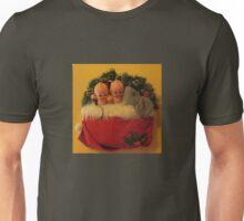2 Kewpies snuggling with Mouse in Santa Hat Unisex T-Shirt