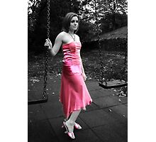 Pink Dress Photographic Print
