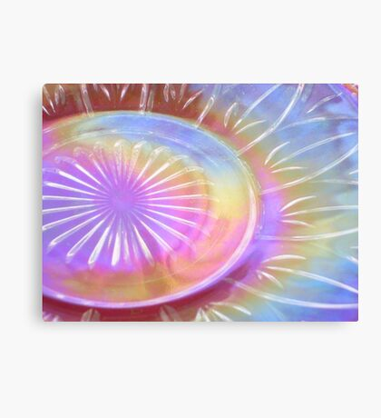 Federal Glass Luster Plate Canvas Print