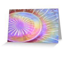 Federal Glass Luster Plate Greeting Card