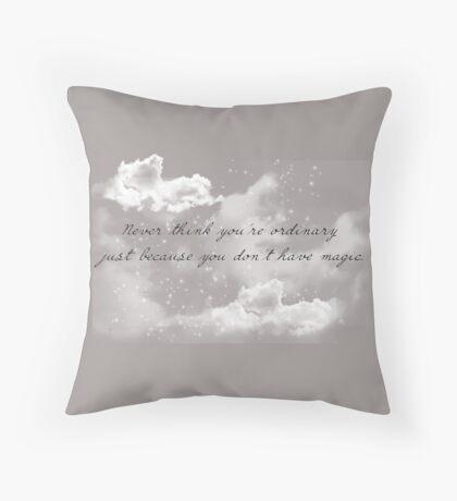 No Magic  Throw Pillow