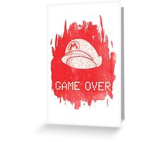 Game Over Mario Greeting Card