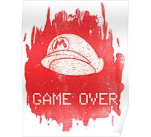 Game Over Mario Poster
