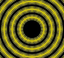 In Circles (Yellow Version) by Roz Abellera Art Gallery