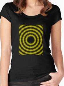 In Circles (Yellow Version) Women's Fitted Scoop T-Shirt