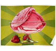 Strawberry Ice Cream Poster