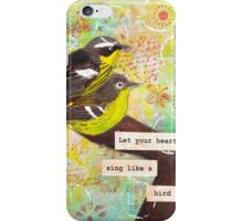 "Mixed Media ""Heart Song"" iPhone Case/Skin"