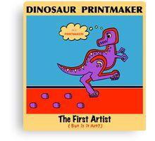 Dinosaur Printmaker Canvas Print