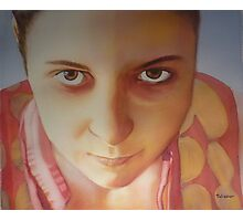 Self portrait, watercolor on paper Photographic Print