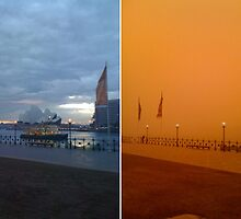 Before and After Sydney Harbour . The Great Dust Storm by Pooh