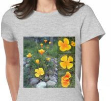 Golden light shining collage Womens Fitted T-Shirt