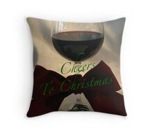 Cheers to Christmas Throw Pillow