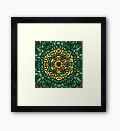 Green Scales Framed Print