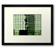 green and growing Framed Print
