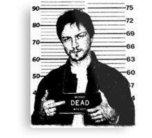 Wanted: McAvoy Metal Print