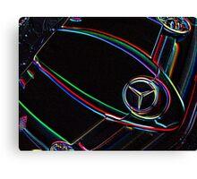 Neon Mercedes SLR Canvas Print