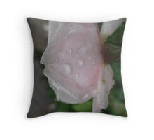 The Lady Doth Protest Rose Throw Pillow