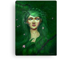 Green Nature Fairy Canvas Print