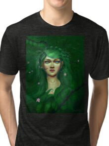 Green Nature Fairy Tri-blend T-Shirt