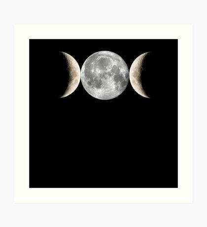 Triple Moon Art Print