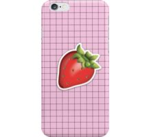 aesthetic strawberry emoji on grid tumblr iPhone Case/Skin