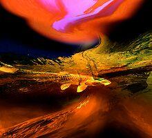 orange swamp..... abstract landscape by banrai