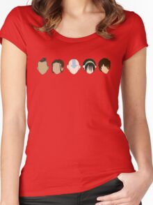 Team Avatar graphic heads Women's Fitted Scoop T-Shirt