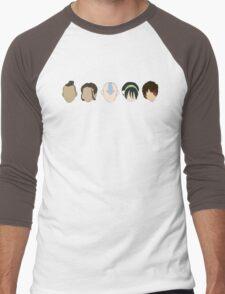 Team Avatar graphic heads Men's Baseball ¾ T-Shirt