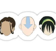 Team Avatar graphic heads Sticker