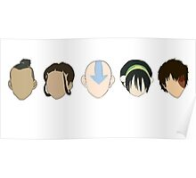 Team Avatar graphic heads Poster