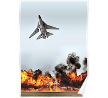 F111 with Fire, Adelaide Air Show  Poster