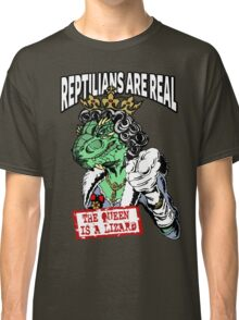 Reptilians Are Real - The Queen Is A Lizard Classic T-Shirt