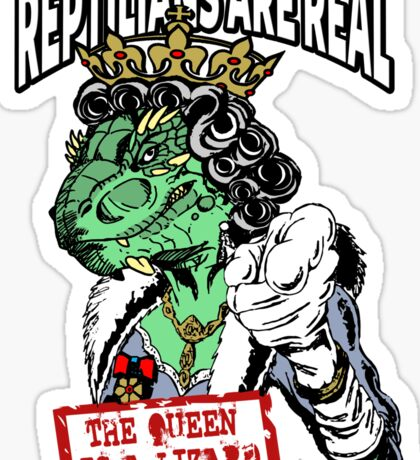 Reptilians Are Real - The Queen Is A Lizard Sticker