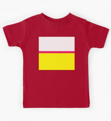Bright Modern Color Block - Vibrant Neon Fluorescent Hot Pink Yellow White Kids Tee