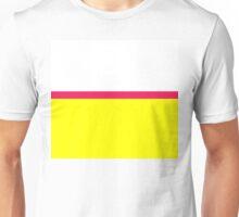 Bright Modern Color Block - Vibrant Neon Fluorescent Hot Pink Yellow White Unisex T-Shirt