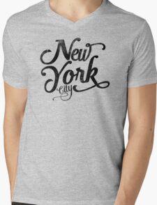New York City vintage typography Mens V-Neck T-Shirt